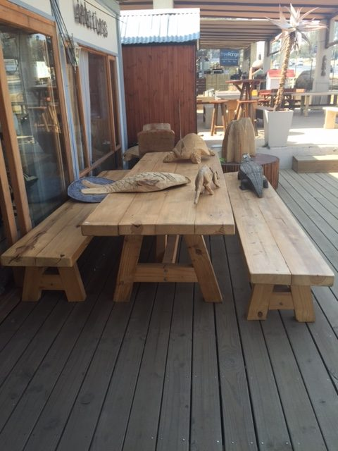 Fantastic 798Mm Thick Pine Table And Benches A Frame Rustic Timber Gmtry Best Dining Table And Chair Ideas Images Gmtryco