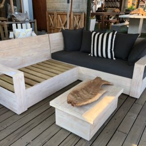 Pine Box Couch White Wash 2