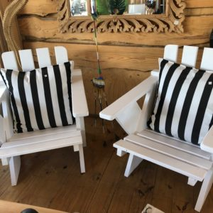 Plantation chairs white wash