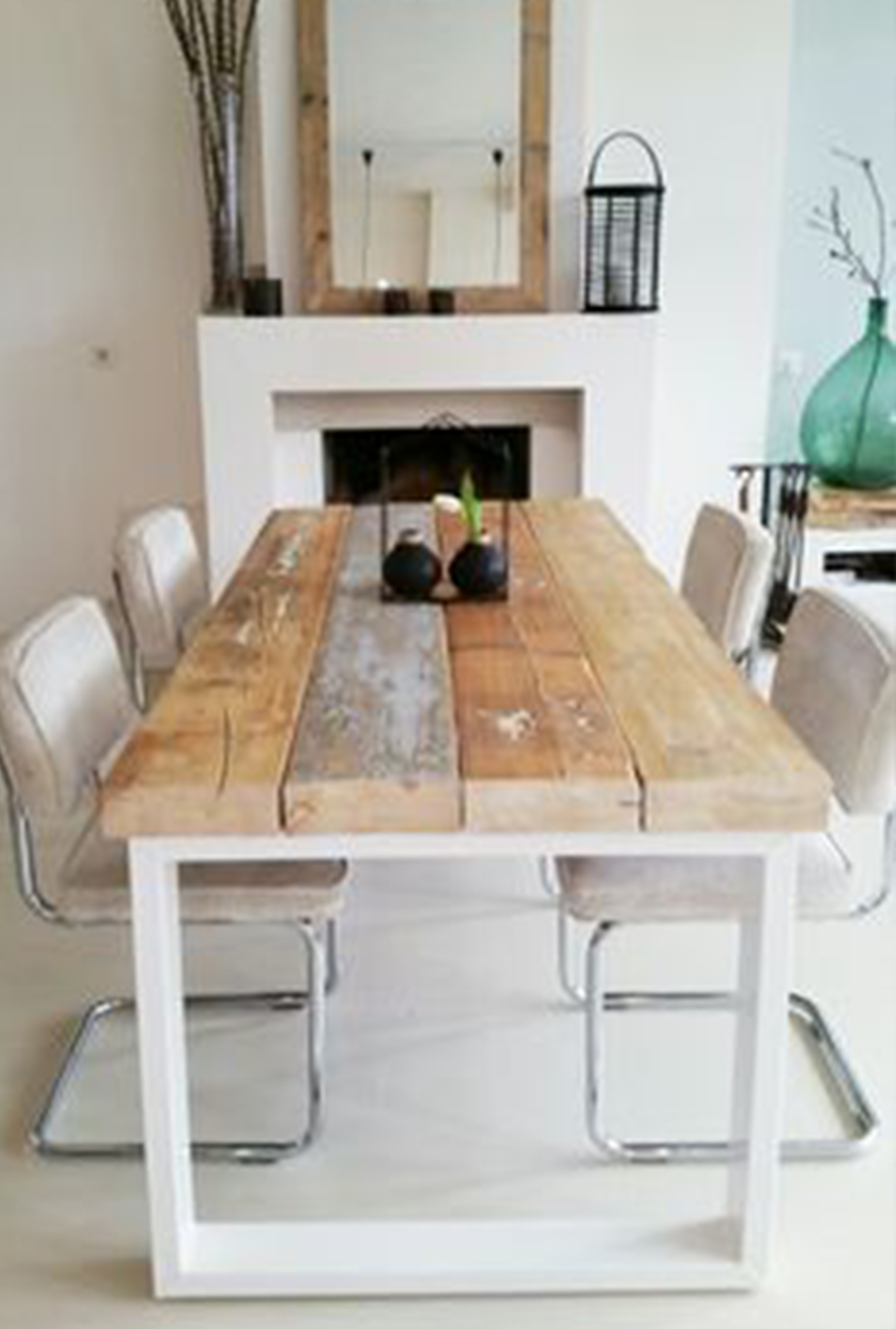 Rustic Wooden Tables With White Metal Legs Rustic Timber