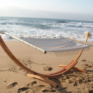 White hammock on stand 2