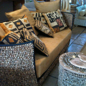 marula seed decor couch